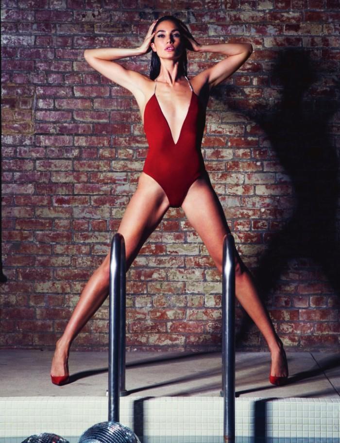 Lily Aldridge Seduces In David Bellemere Images For Lui ...