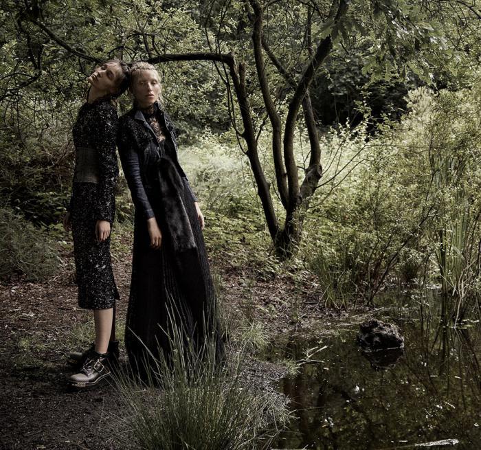 Fashion Forest Beauty Salon: Agata Pospieszynka Captures Maggie Maurer & Franzi Mueller