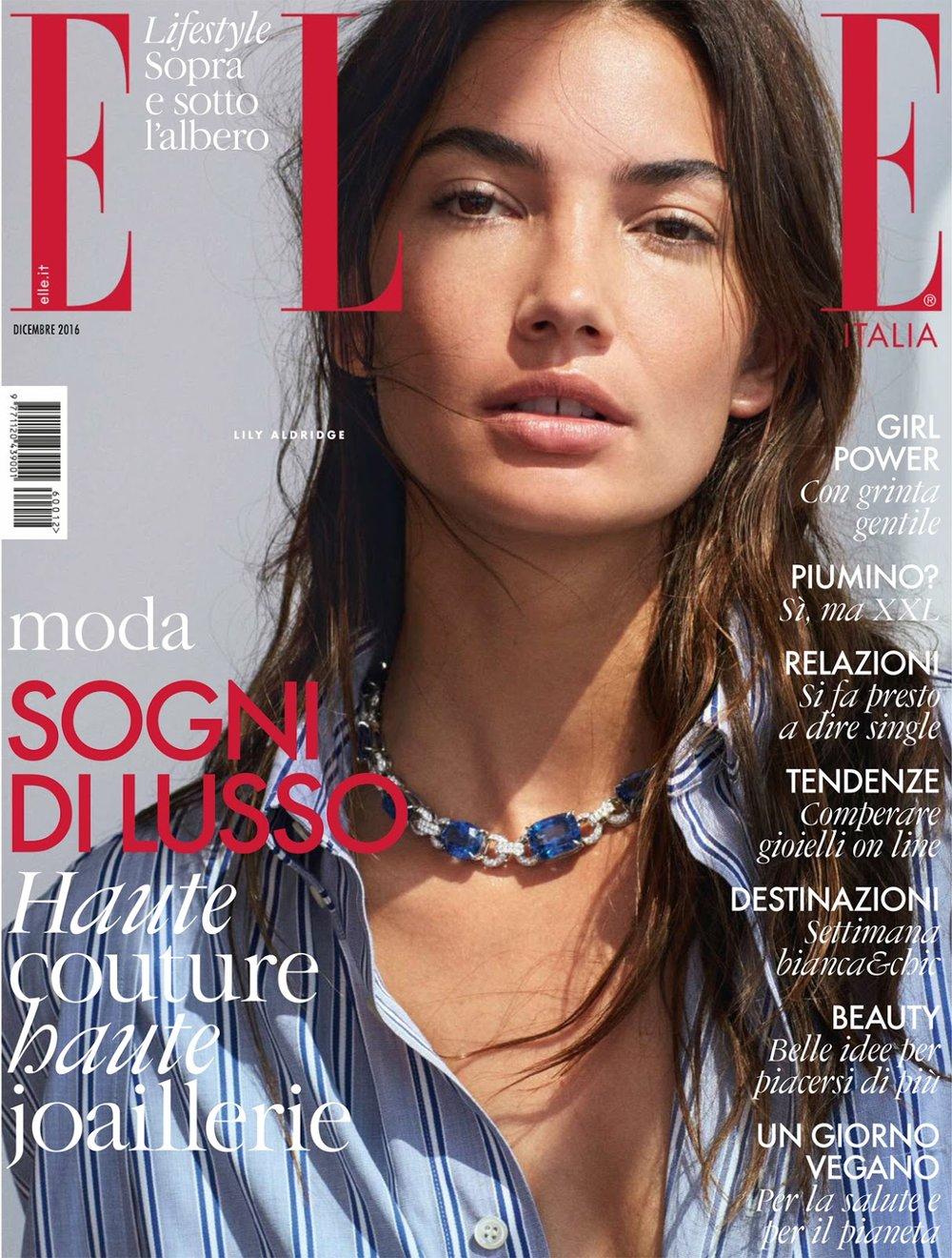 Lily aldridge is sweet like a snake in matt jones images for Elle italia