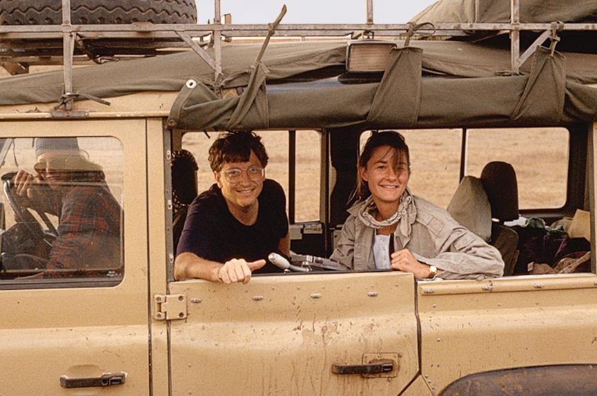 Bill and Melinda gates on first trip to africa in 1993.