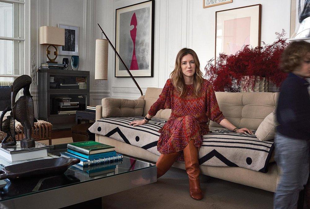 Clare Waight Keller in the living room PHOTO:MAGNUS MARDING FOR WSJ. MAGAZINE