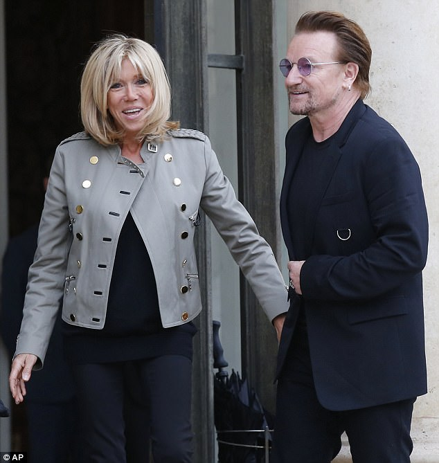 Emmanuel Brigitte Macron Meet With Bono Rihanna On Global Poverty Aid Anne Of Carversville