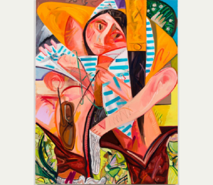 Dana Schutz, Getting Dressed All at Once, 2012. Oil on canvas, 73 1/2 × 56 1/4 in. (186.7 × 142.9 cm). Private collection, Courtesy Reiss Klein Partners. Courtesy the artist and Petzel, New York. © Dana Schutz
