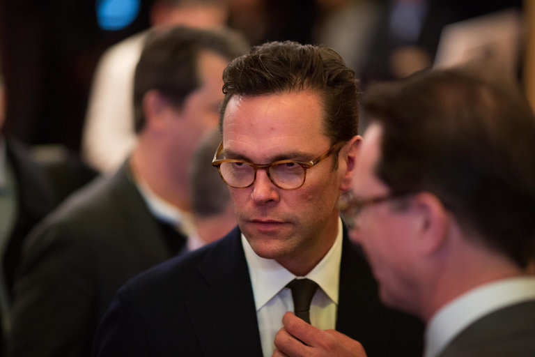 James Murdoch, the chief executive of 21st Century Fox, in April in New York. .Credit: Kevin Hagen for The New York Times