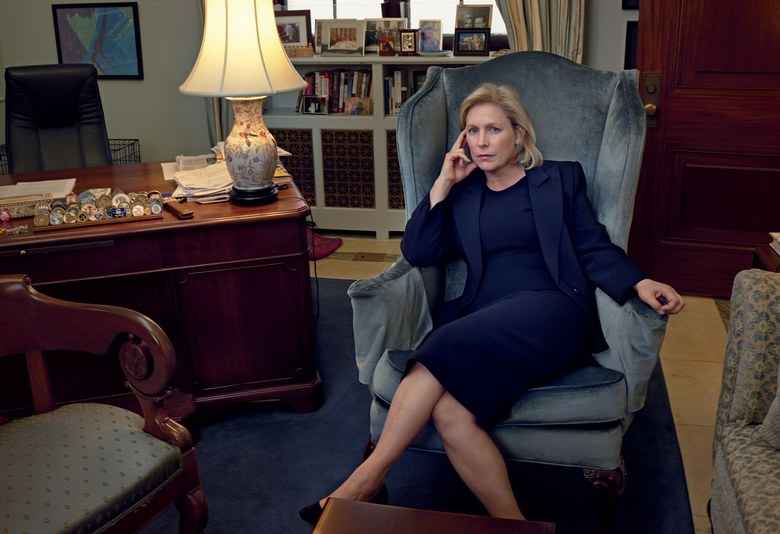 NY Senator Kirsten Gillebrand photographed by Annie Leibovitz, Vogue, November 2017