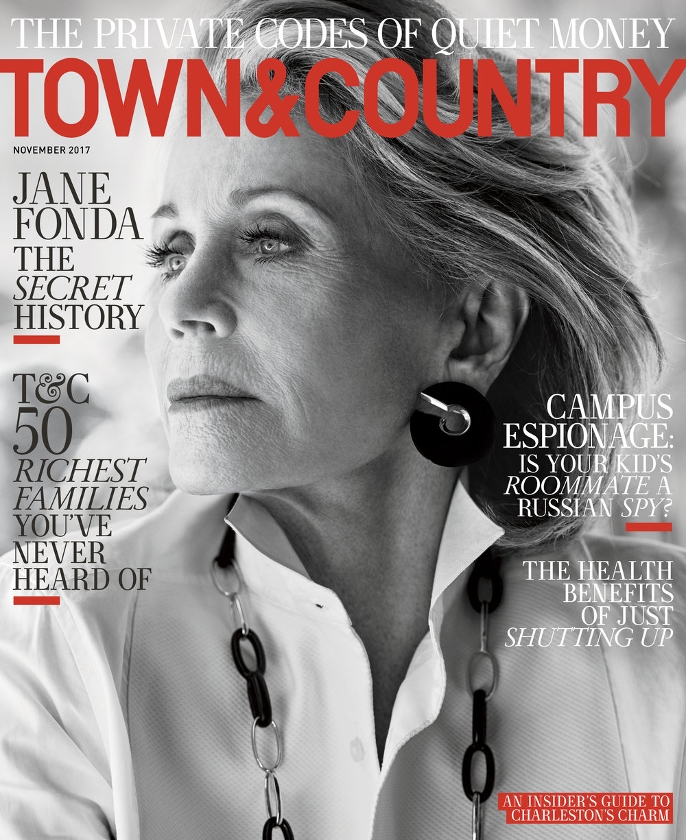 Jane Fonda for Town & Country November 2017 by Max Vadukul