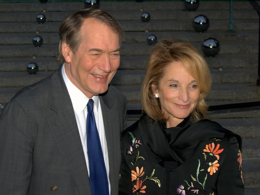 Charlie Rose with his long-time partner Amanda Burden