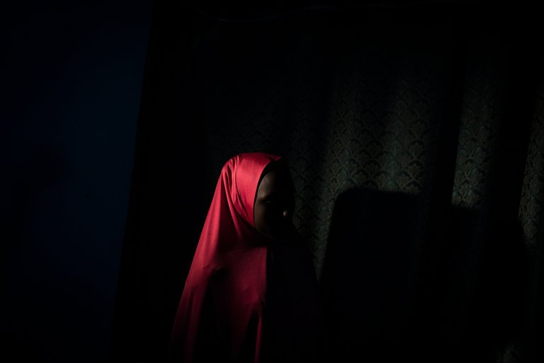 Falmata, 14, was abducted and raped repeatedly by Boko Haram fighters. Her trauma then continued in a camp for victims of the war. CreditAdam Ferguson for The New York Times