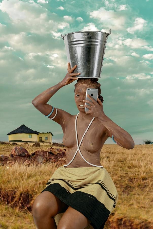 'Xhosa Woman--Intombi II' by Tony Gum