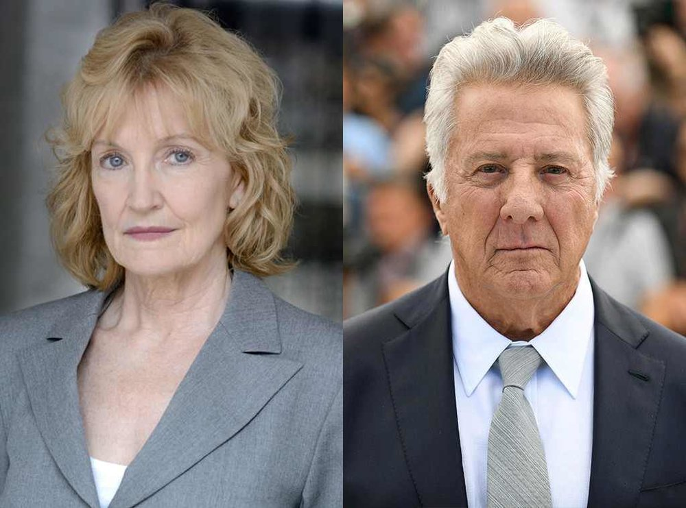 Kathryn Rossetter (l) and Dustin Hoffman (r)