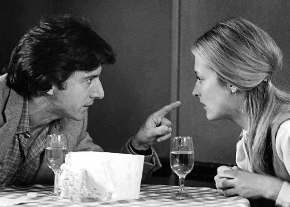Dustin Hoffman (l) and Meryl Streep (r) in Kramer vs. Kramer