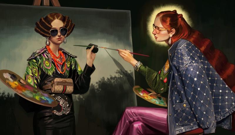b7bba0de6af Gucci s Alessandro Michele Taps Ignasi Monreal In  Utopian Fantasy ...
