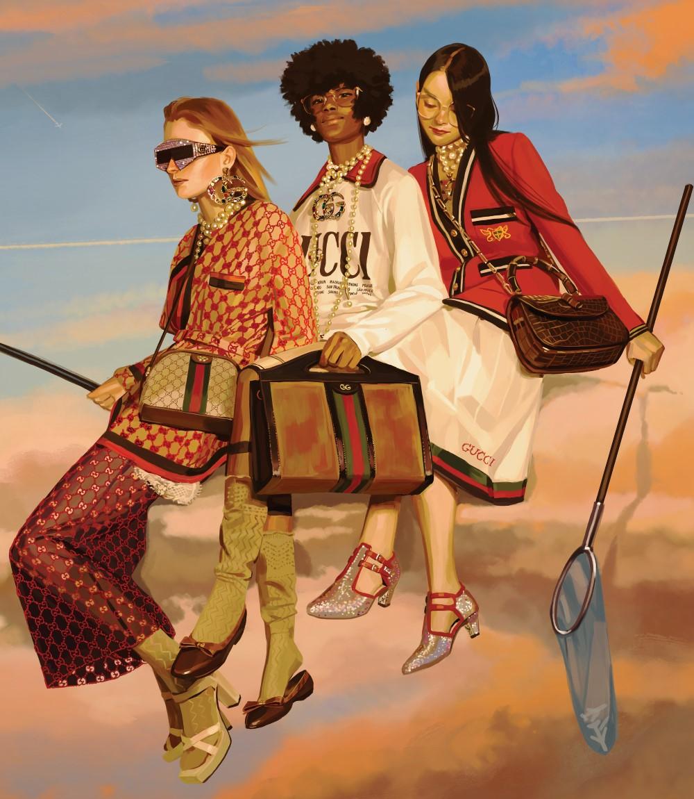 cdbd5562bac Gucci s Alessandro Michele Taps Ignasi Monreal In  Utopian Fantasy  Spring Summer  2018 Campaign
