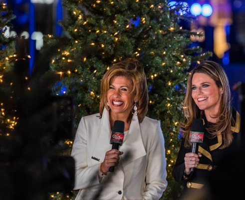 HODA KOTB, LEFT, AND SAVANNAH GUTHRIE IN NOVEMBER. CREDIT: HIROKO MASUIKE/THE NEW YORK TIMES