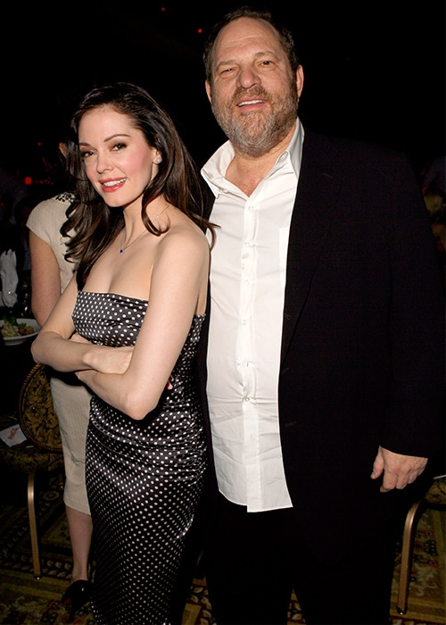 Rose McGowan and Harvey Weinstein in happier times.