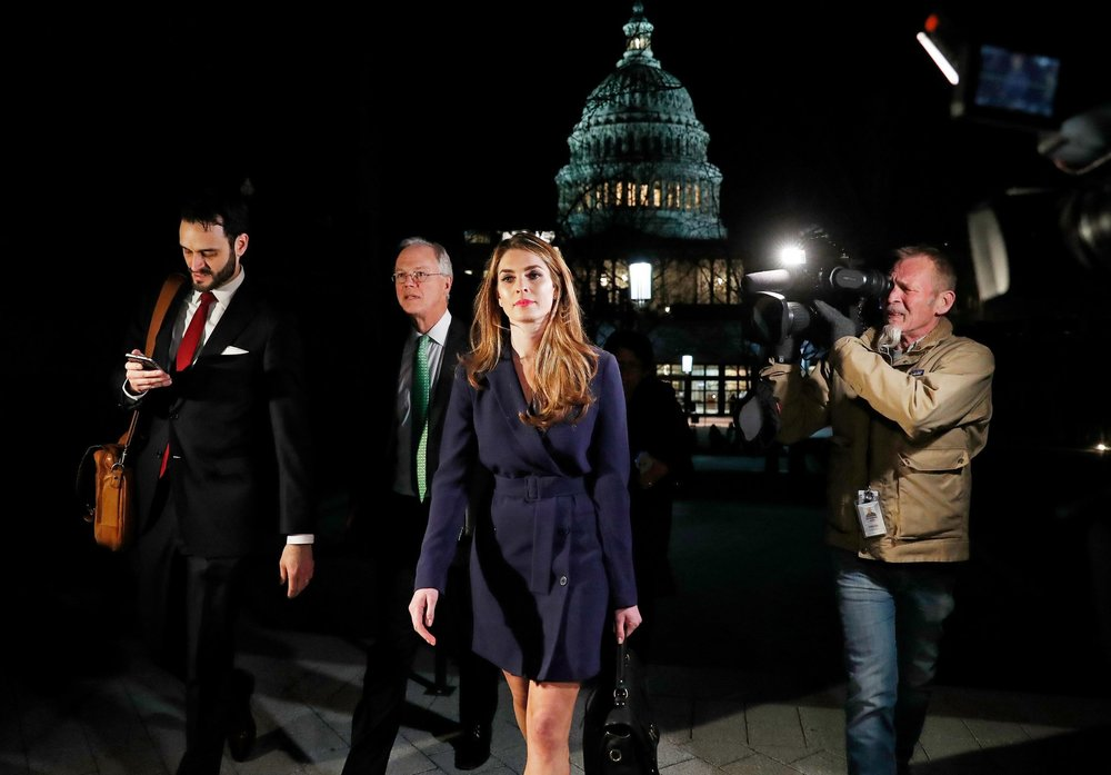 Hope Hicks did not indicate what her next job would be or when she intended to leave her post as White House communications director.Credit: Leah Millis/Reuters