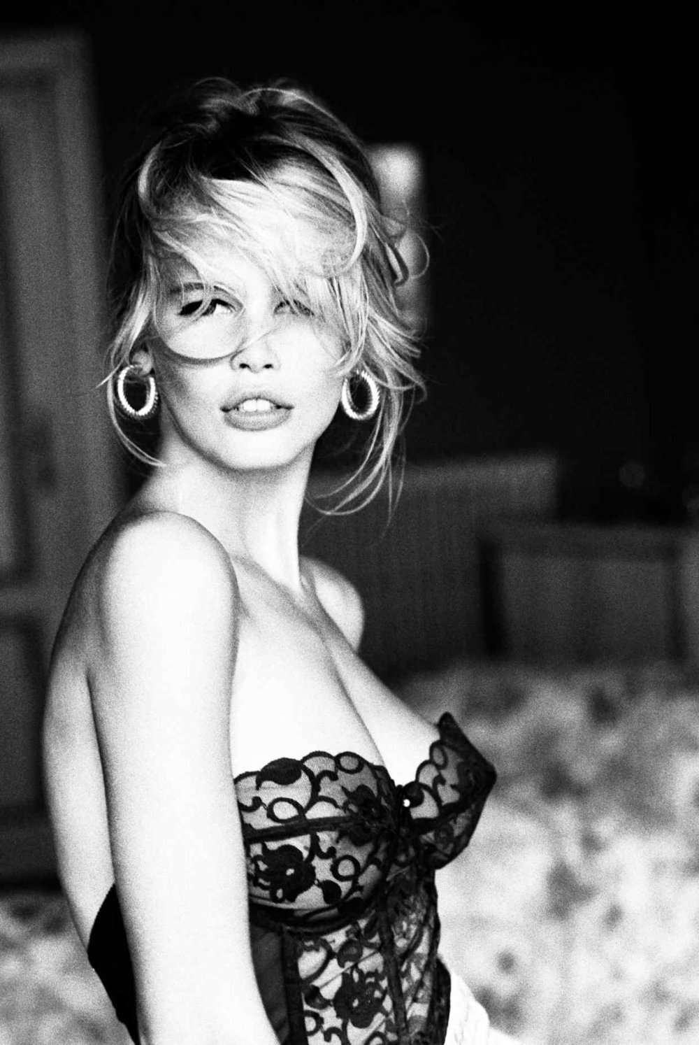 Claudia Schiffer, Guess Campaign, Morocco 1989; black & white print on baryte paper, 180cm x 120cm, £24,000