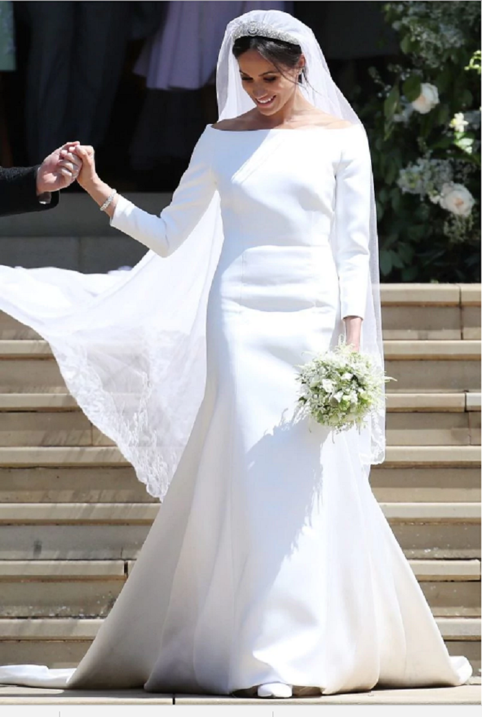 Meghan Markle's wedding dress, designed by Givenchy's Clare Waight Keller