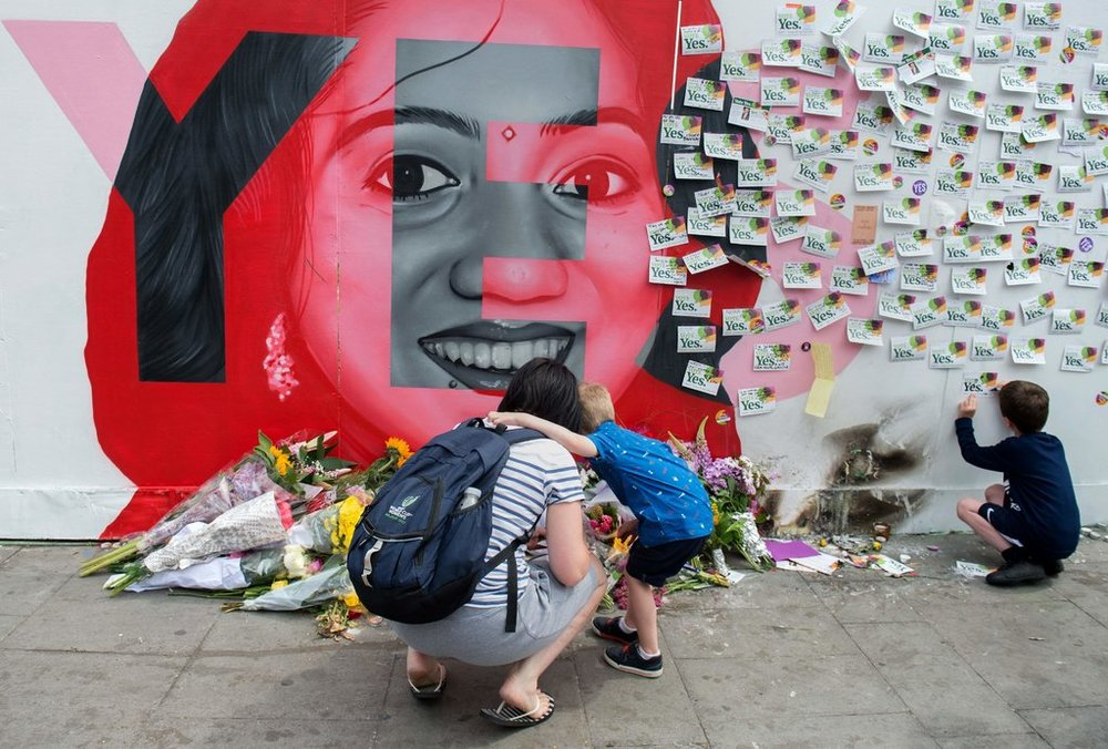A mural in Dublin of  Savita Halappanavar , who died in 2012 of complications from a miscarriage after a hospital rejected a request for an abortion.CreditBarry Cronin/Agence France-Presse — Getty Images