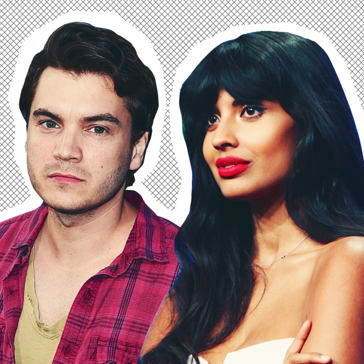 Emile Hirsch and Jameela Jamil.Photo: Getty Images
