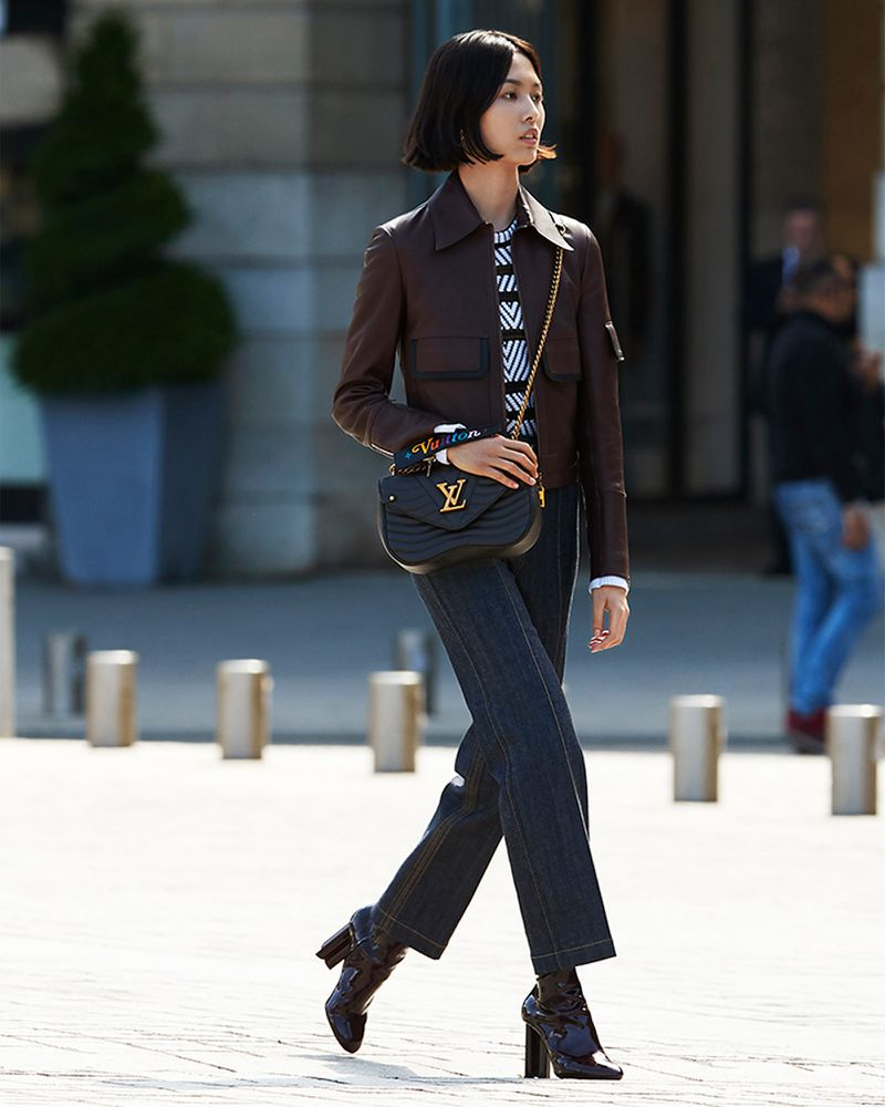 2ab579b3c459 Hans Feurer Flashes Jiali Zhao   Kris Grikaite In LV s New Wave Bag ...