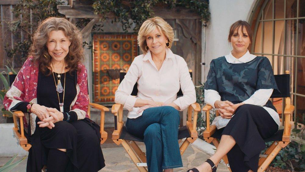 A still from The Last Weekend promo featuring Lily Tomlin, Jane Fonda, and Rashida Jones