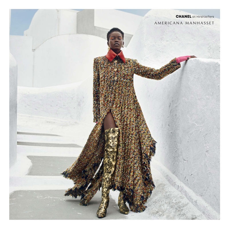 Adut Akech for Americana Manhasset Fall 2018 Ad Campaign (2).jpg
