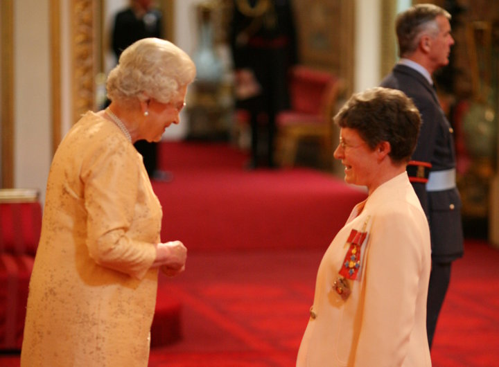 JOCELYN BELL BURNELL IS MADE A DAME COMMANDER OF THE BRITISH EMPIRE BY QUEEN ELIZABETH II AT BUCKINGHAM PALACE FOR SERVICES TO SCIENCE.