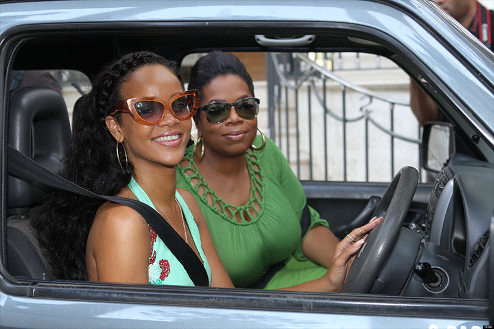 Rihanna gives Oprah a tour of her childhood Barbados home.