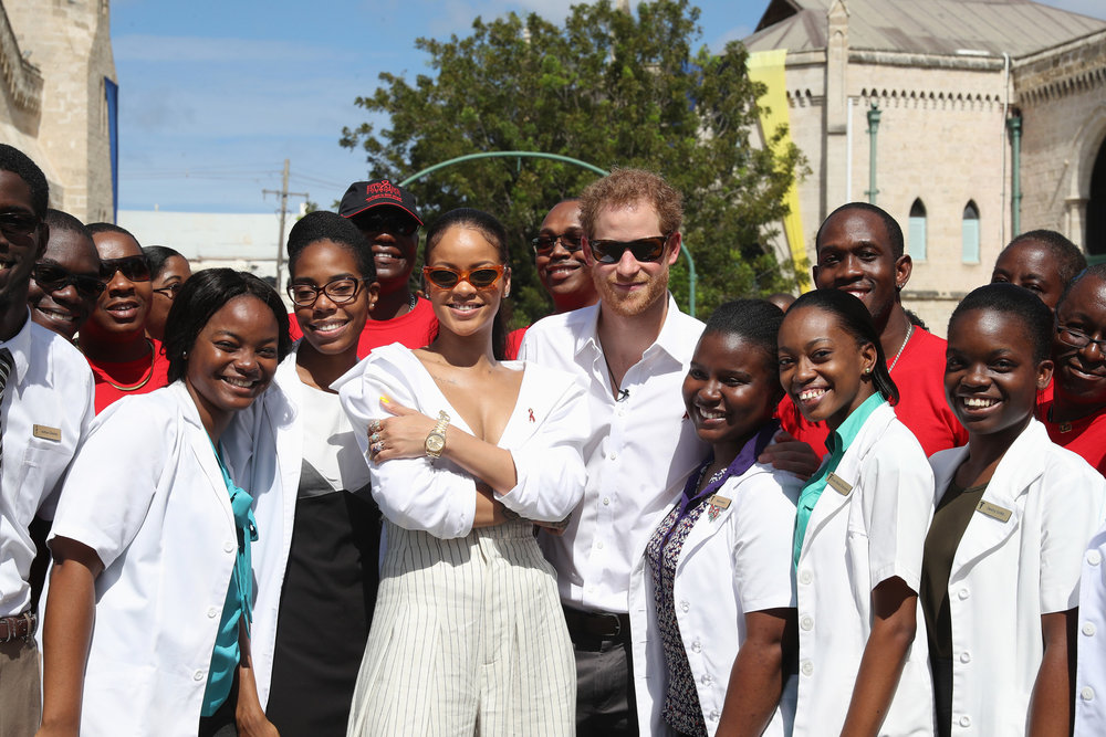 Rihanna and Prince Harry in Barbados on World AIDS Day 2016
