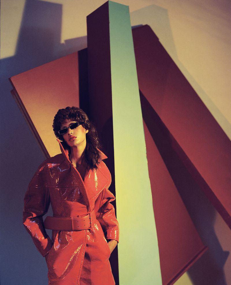 Model Damaris Goddrie Wears An 80s Fashion Vibe In A Dan Beleiu