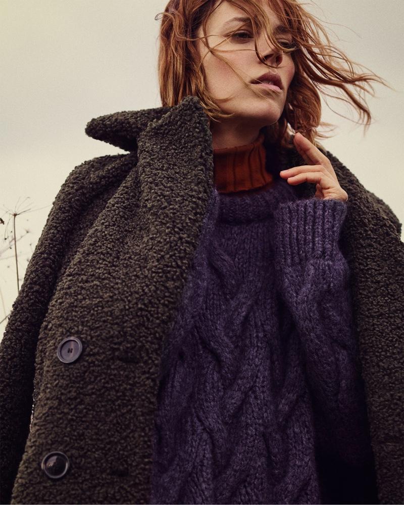 1c68be4a8b9 Freja Beha Erichsen Gets Super Warm and Cozy In Zara  Cozy Feeling ...