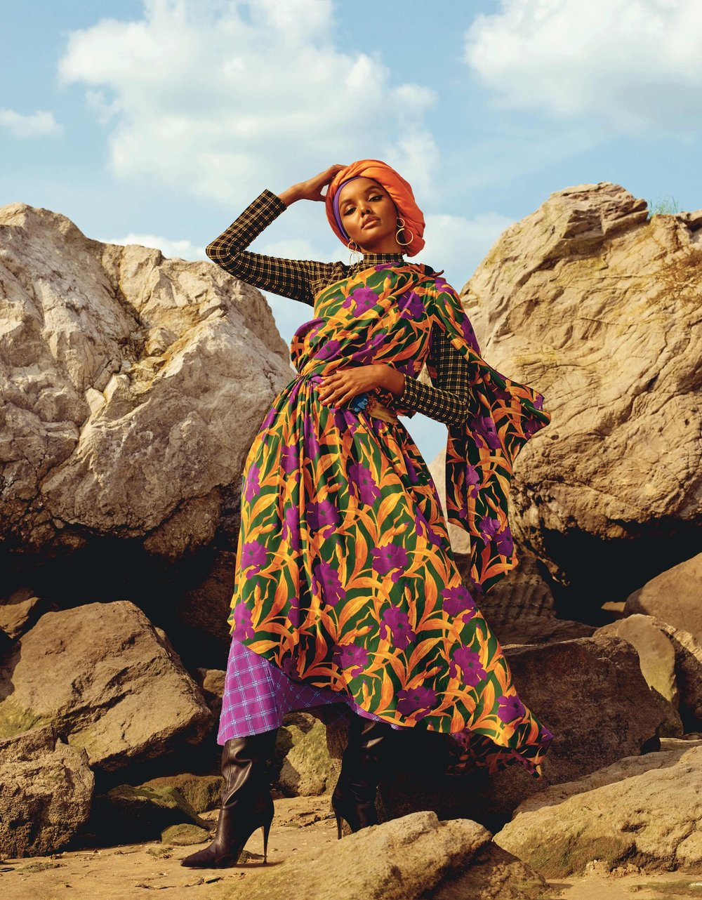 Halima Aden by Clay Stephen Gardner for ELLE UK Nov 2018 (1).jpg