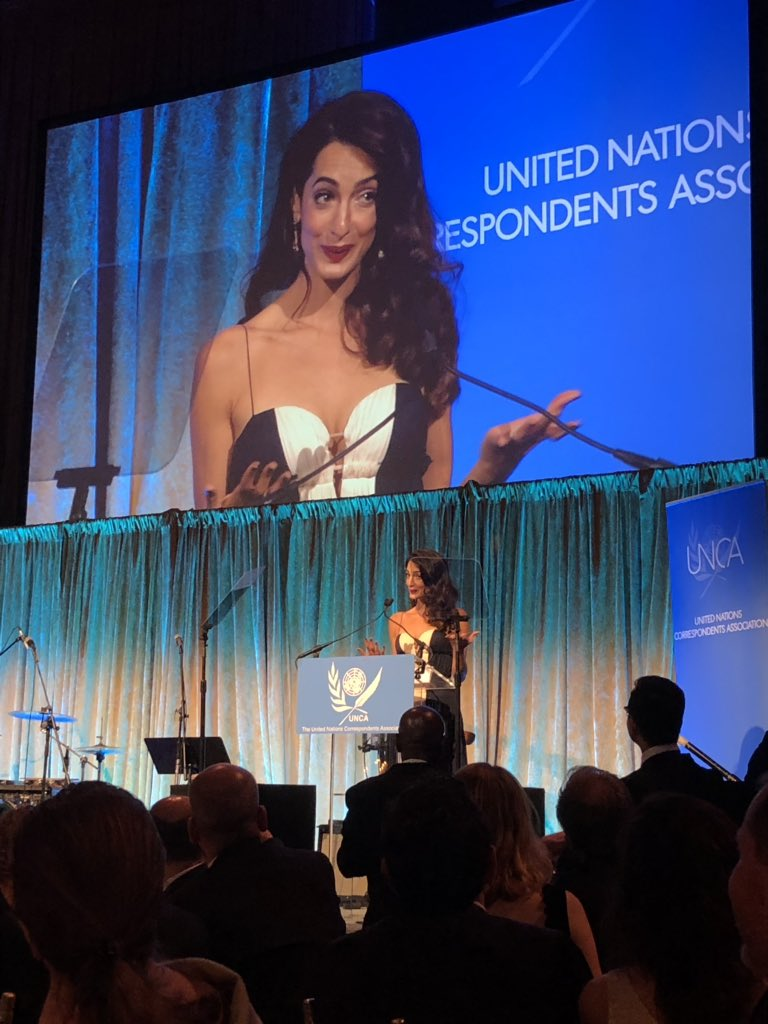 Amal Clooney UN correspondents dinner dec-2018.jpg