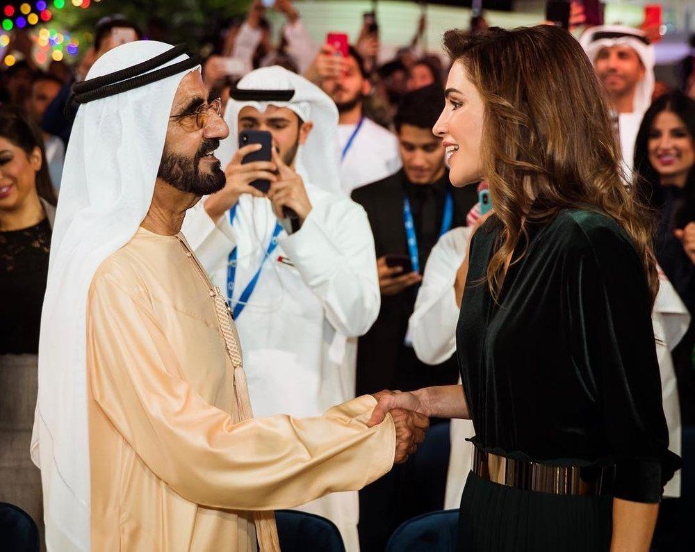 His Highness Sheikh Mohammed bin Rashid Al Maktoum and Queen Ranis of Jordan-mini.jpg
