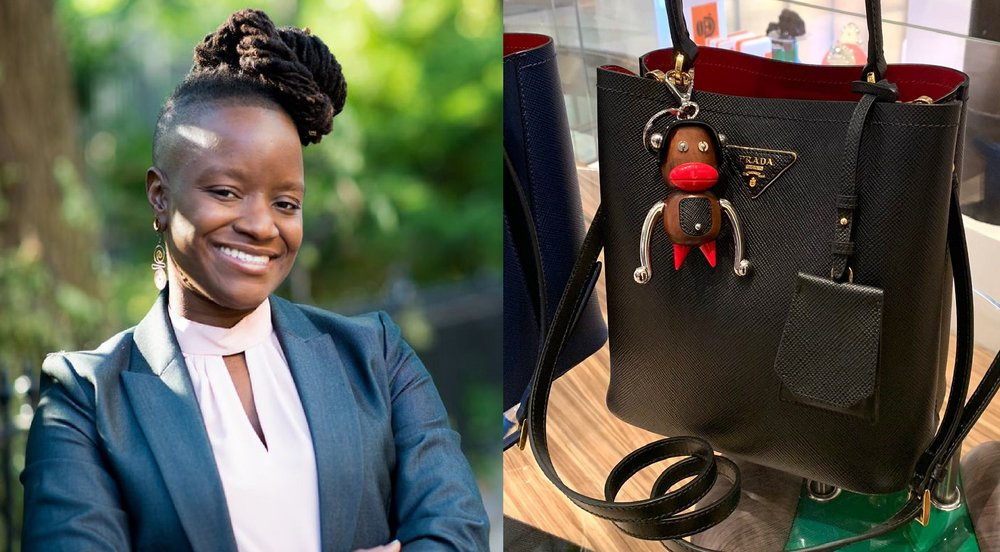 Nationally recognized civil rights lawyer and social justice activist Chinyere Ezie asked Prada to explain their thinking on large red lips Pradamalia trinkets.