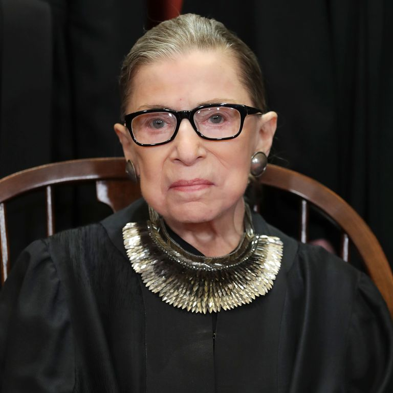 Ruth Bader Ginsberg poses for official Supreme Court Justice photo.