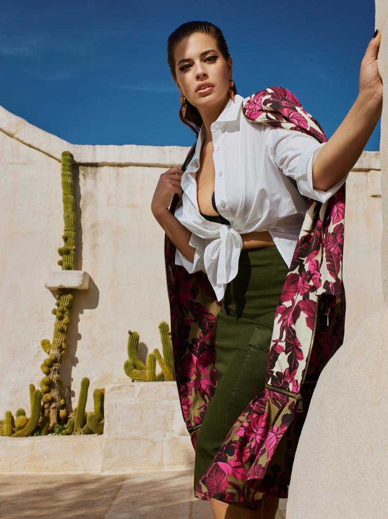 6c01bc5bafa Ashley Graham Blooms Beautiful In Marina Rinaldi SS 2019 Campaign ...