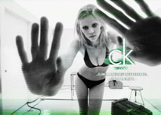 This 2011 calvin klein image of model Lara Stone was taken after her 2009 rehab stay to overcome an alcohol addiction.