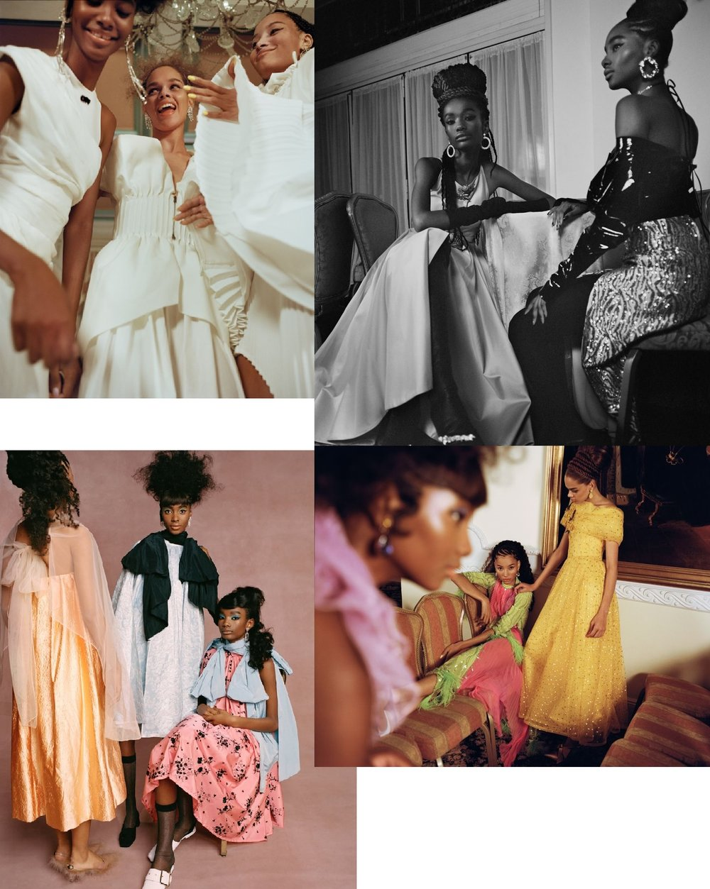 Nadine Ijewere 'Black Cotillion' for Garage Magazine SS2019 collage.jpg