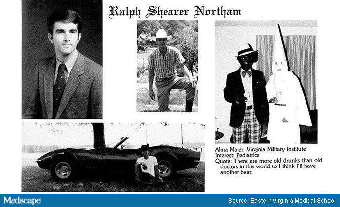 VA. Governor Ralph Northam's medical school yearbook photos.