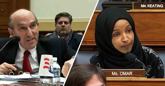 In a heated exchange, Rep. Ilhan Omar (D-MN) questioned Elliott Abrams' credibility as US Special Envoy to Venezuela, given his role in the Iran-Contra affair and support for U.S.-backed coups in the '80s.