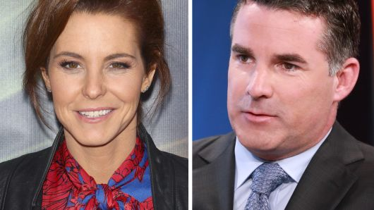 MSNBC News Host Stephanie Ruhle and Under Armour CEO Kevin Plank