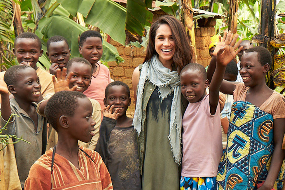Before marrying Prince Harry Meghan Markle acted on her commitment to girls education, joining World Vision as a global embassador on trips to Rwanda and India.