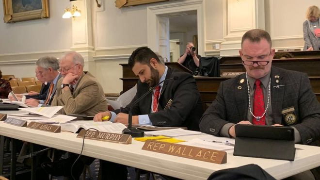 Male Republican leaders wore pearsl to hearing on gun legislation.jpg