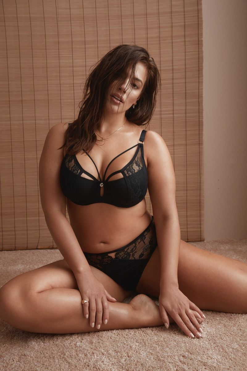 Ashley Graham Seduces In New Lingerie Collab With Addition ELLE ... e0ab7ef30