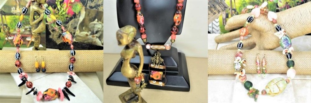 GlamTribal Jewelry  Artisan Necklaces Pink