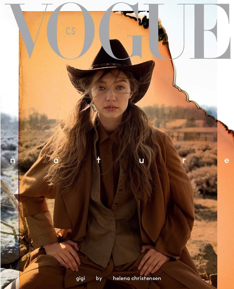 Gigi Hadid by Helena Christensen covers Vogue Czechoslovakia May 2019