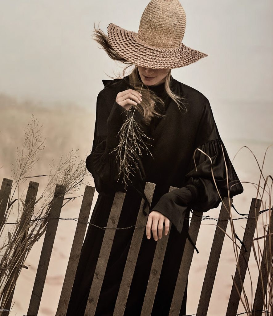 Julia Stegner wears poetic hats lensed by Giampaolo Sgura.