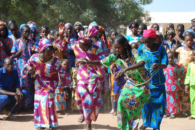 Soninke people of Senega dancing at the declaration of Bakel festivities  via Tostan